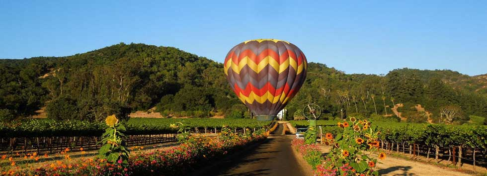 Napa Hot Air Balloon Ride Wine Tours To Napa From San