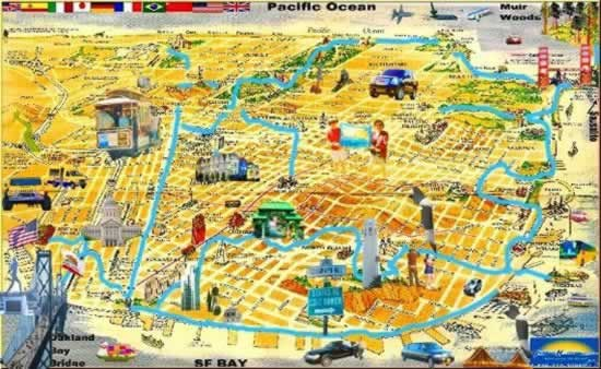 San francisco tourist spots map – Tourist Attractions In San Francisco Map
